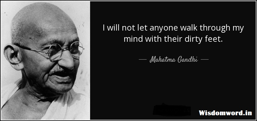Motivational Quote By Mahatma Gandhi on Clealiness