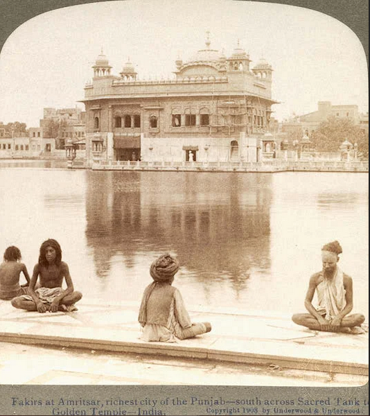 Historical photos of India- Golden Temple in 1900